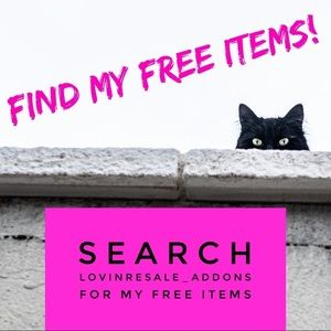 Find my FREE items!      SALE